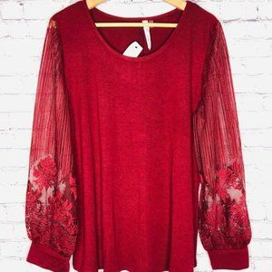 Ny Collection Long Sleeve Top